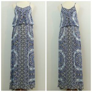 Japna Printed Flounce Maxi Dress
